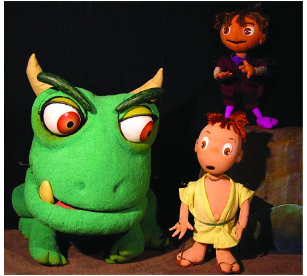 人形劇 「チャハハ丸とへへへ丸」